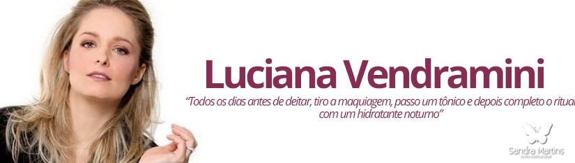 """Luciana Vedramini  A bela atriz que protagonizou o primeiro beijo gay em novela brasileira não descuida da pele e segue uma rotina intensa. """"Todos os dias antes de deitar, tiro a maquiagem, passo um tônico e depois completo o ritual com um hidratante noturno, pois tenho a pele bem seca."""