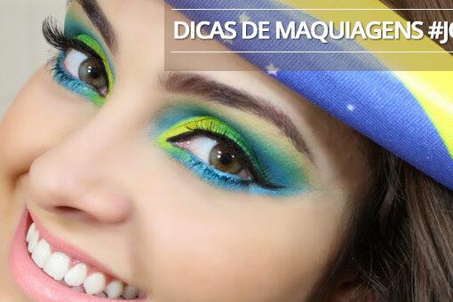 """make e maquiagem para o jogo do Brail na copa do mundo fifa 2014 Meninas \o/ E hoje é jogo do Brasil!!! Muita agitação, expectativas e encontros com amigos. Mas para quê pintar o rosto com tinta se você pode arrasar com uma maquiagem do Brasil linda para torcer pela seleção? Para te ajudar e inspirar segue abaixo uma galeria de opções para você #arrasar em um dia tão importante quanto esse! Dica para quem está com a """"sobrancelha"""" em dia :D #makebrasil #makecopadomundo #makejogobrasil #makejogobrasilcopa"""