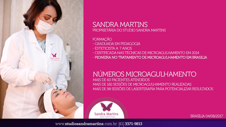 Microagulhamento em Brasília Studio Sandra Martins